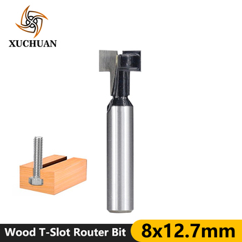 Cleaning Bottom Router Bit Wood End Mills T-Slot Router Bits Tungsten Carbide Cutter 8mm Shank T-Track Slotting Milling Cutter цена 2017