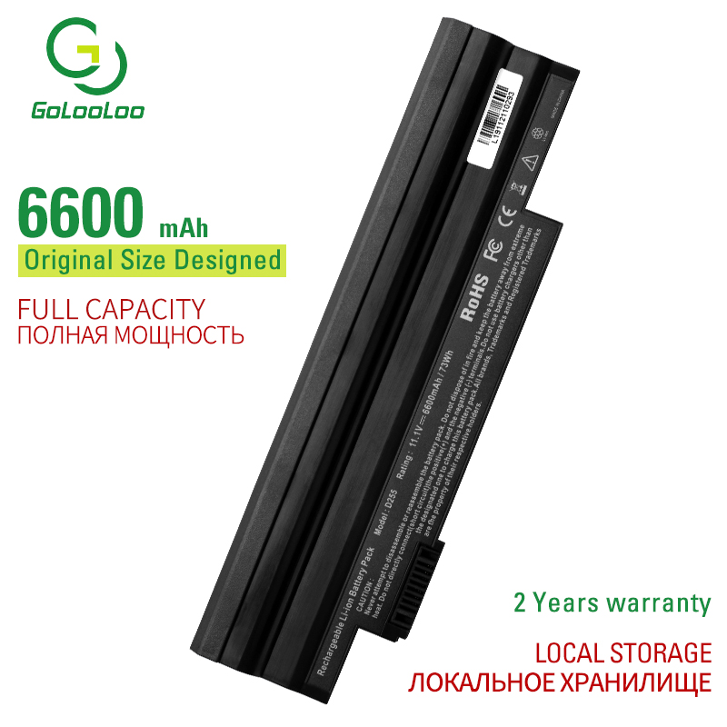 Golooloo 9 Cell laptop <font><b>battery</b></font> for <font><b>Acer</b></font> <font><b>Aspire</b></font> <font><b>One</b></font> 522 D255 <font><b>722</b></font> AOD255 AOD260 D255E D257 D257E D260 D270 AL10A31 AL10B31 AL10G31 image