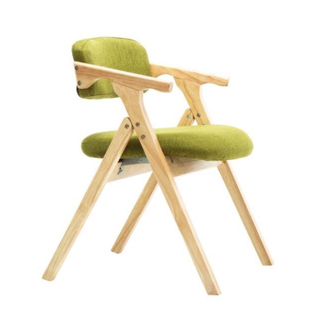 Modern Minimalist Dining Chair Nordic Wooden  Dining Chair  Fabric Folding Chair Armrest Backrest Computer Chair