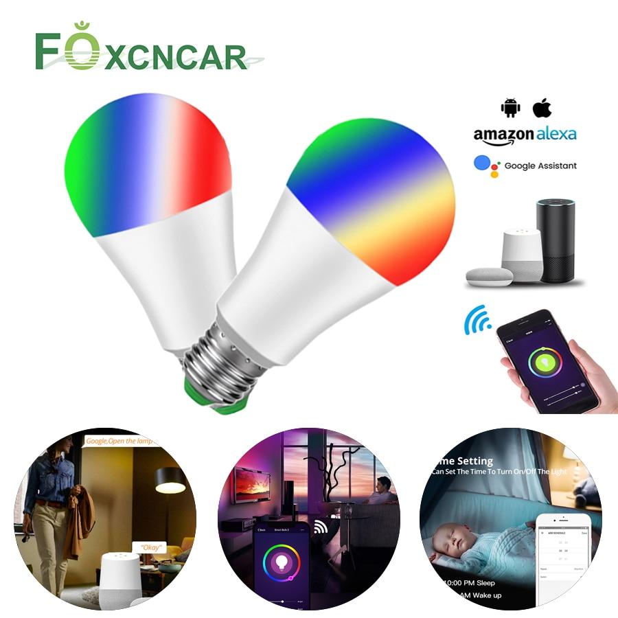 1/3 Pcs Smart WiFi Light Bulb LED Lamp RGB RGBW E27 LED Bulb Wake-Up Warm Lights Work With Alexa Google Home Christmas Lighting