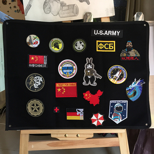 Image 4 - Patch stockage panneau daffichage militaire Collection brassard finition tissu Badge affiche armure fond bricolage Nylon tenture murale