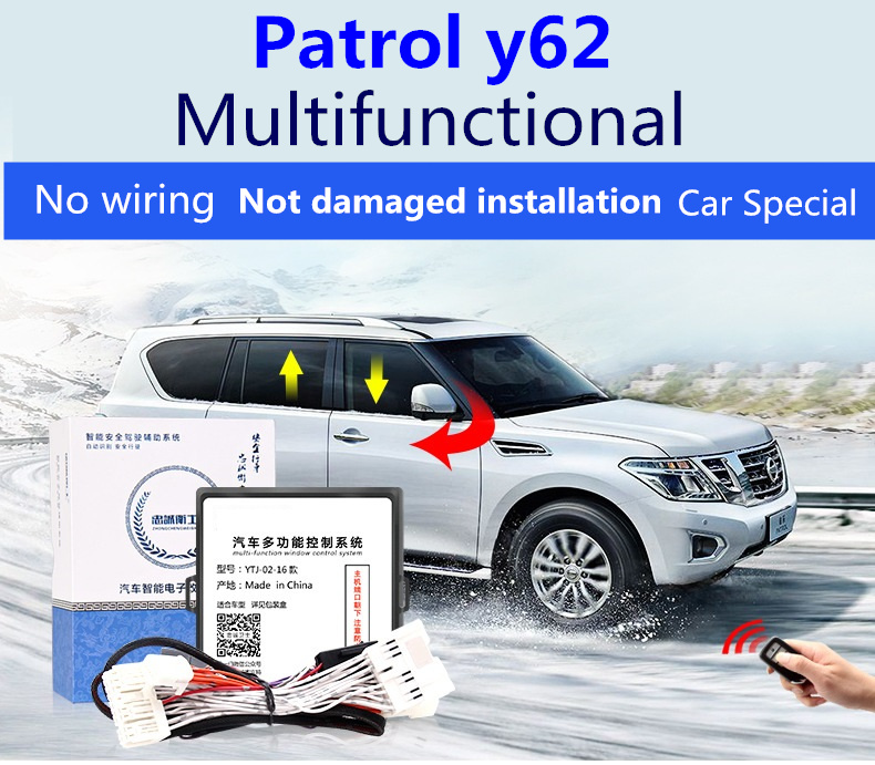 Automatic window closer for Nissan Patrol y62 2012-2019 automatic closing window lifter lock lock mi