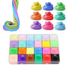 Mão goma playdough fofo slime arco-íris algodão nuvem lodo macio borracha lama brinquedo alívio do estresse para crianças plasticina kit