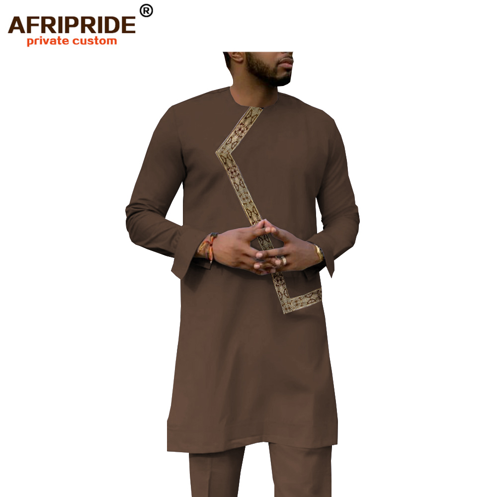 INCERUN Men/'s Clothes Short Sleeve Shirt and Pant Set Traditional African Cloths