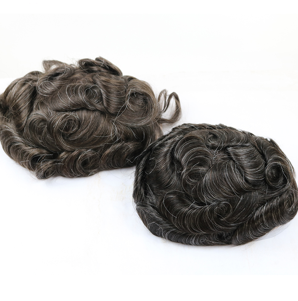 30 Kind Colors Human Remy Hair Pieces Swiss Lace Front Free Parting, Poly And Mono Men Toupee Hand Tied Prothesis