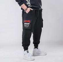 Pantalon Cargo pour hommes, grande taille 7xl, 6xl et 5xl, couleur unie, noir, ample, décontracté survêtement, poches, élastique, longueur à la cheville