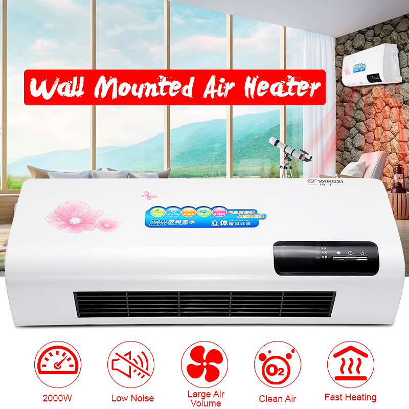 2000W Wall-mounted Air Conditioner Electric Cooling&Heating Machine 220V Cooler Heater Warmer