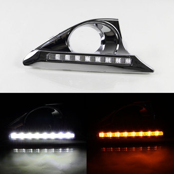 DRL for Toyota Camry 2012 2013 2014 Daytime Running Light Front Left and Right Fog Light with Turning Signal Light