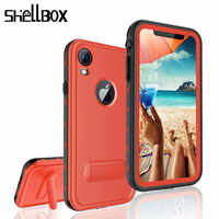 SHELLBOX Original Phone Waterproof Case For iPhone XR X XS Max Case TPU Silicone Cover Case For iPhone 7 8 Water Proof Case