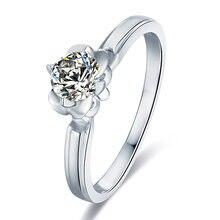 Кольцо из серебра 50 пробы с муассанитом 925 карат мм