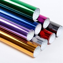 2 rolls of Chrome Mirror Vinyl Wrap Change Color Film Car Sticker Car-styling Car Stickers Decals Sheet DIY High Stretchable