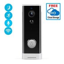 1080P 미니 초인종 카메라 무선 스마트 비디오 Ip 카메라 와이파이 비디오 인터콤 2.0MP 배터리 구동 카메라 APP 제어 도어 벨
