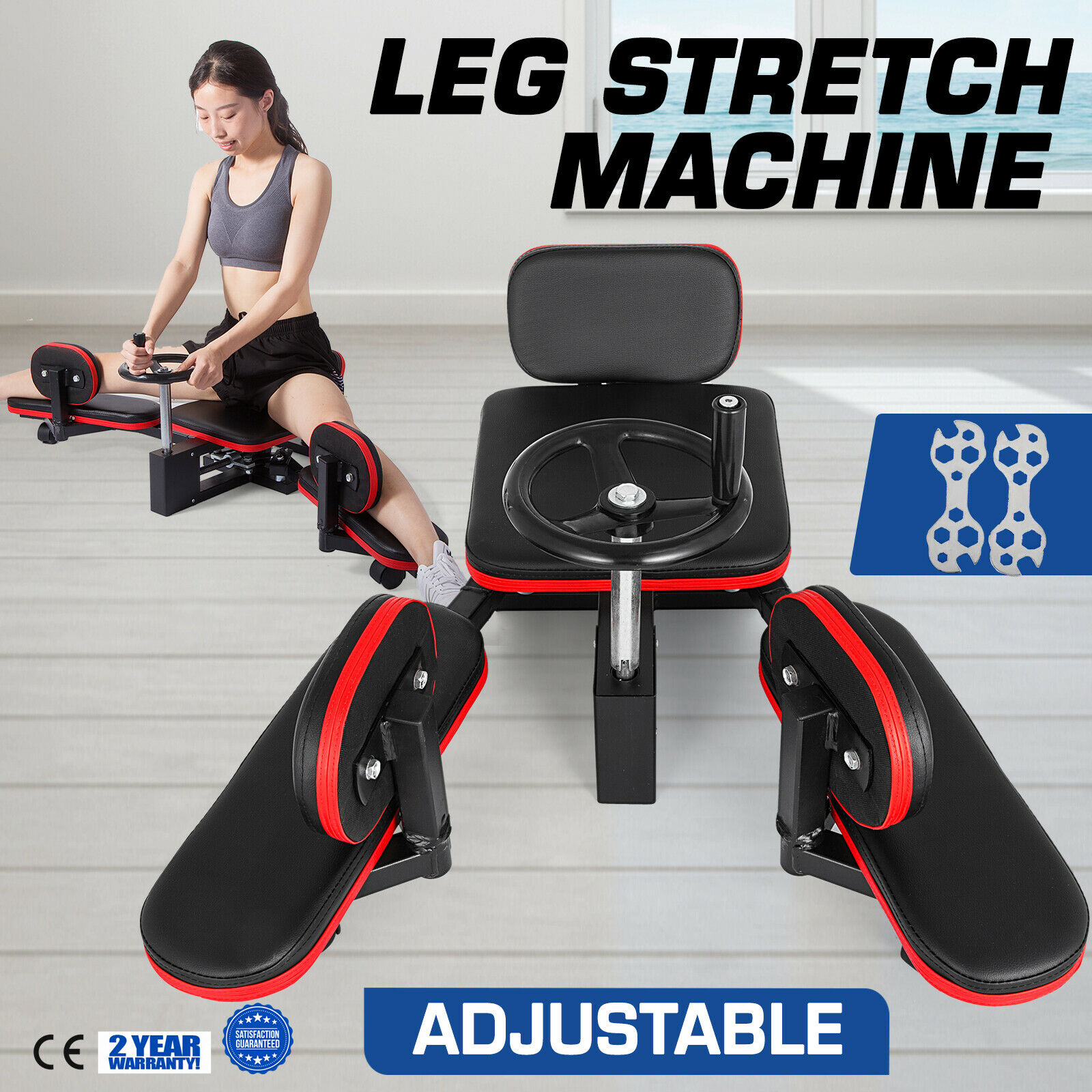 Sports Equipment, Slimming, Stovepipe Exercise Fitness Leg Thigh Stretch Stretcher Machine Gym Hrrk 75 Trainer Stretching