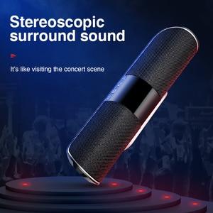 Image 4 - SANLEPUS Bluetooth חיצוני רמקול מתכת נייד סופר בס אלחוטי רמקול 3D סטריאו מוסיקה סראונד עם TFCard Aux