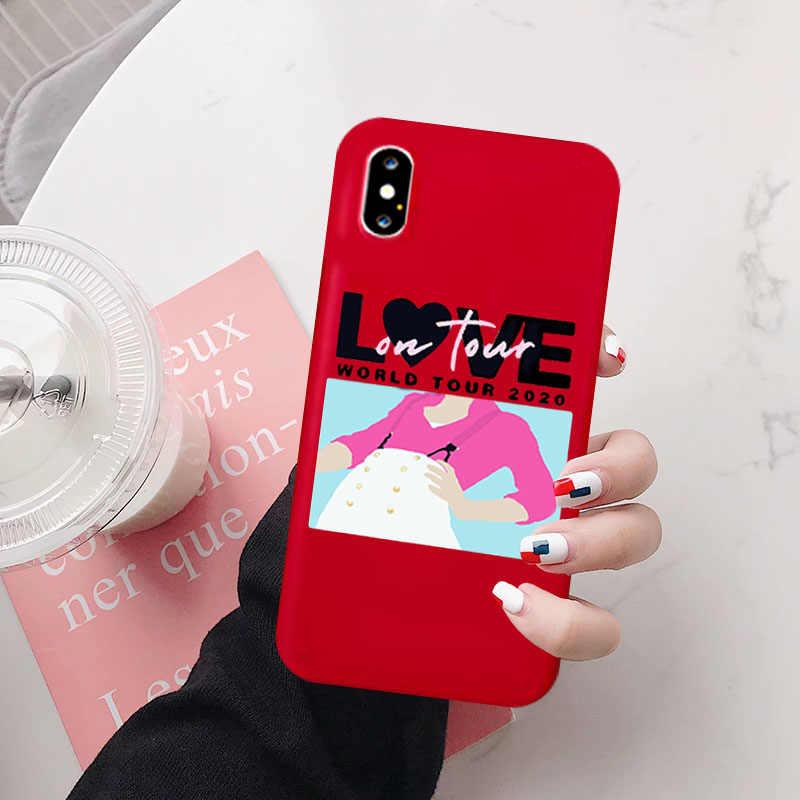 ハリースタイルケース iphone 11 プロ XS XR ケースシリコーン電話カバー IPhone 6S 8 7 プラス XS 最大細線愛ツアーケース