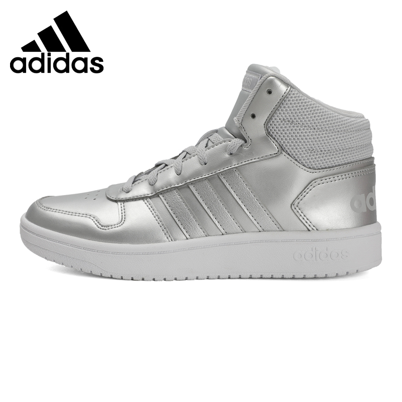 adidas Hoops 2.0 Mid Basketball skors Kids core svart tech
