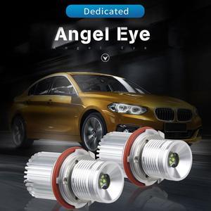 1 par de 40W coche marcador LED ojos de Angel Halo anillo de luz lámpara H8 bombilla para BMW E39 E60 E61 E65 E66 E83 E87 63126904048