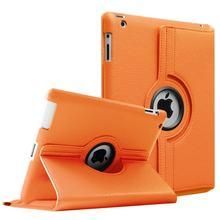 Para iPad 4 3 2 iPad iPad 360 Graus de Rotação PU LEATHER Fique Capa Para A1395 A1396 A1397 A1416 A1430 A1403 A1458 A1459 A1460