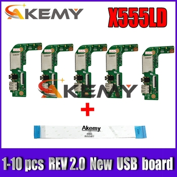 1-10 pcs New!!! For Asus X555 X555L X555LD X555LD_IO USB AUDIO CARD READER BOARD REV:2.0 MB 100% Tested Fast Ship akemy x556uv rev 3 1 x556uj rev 2 0 hdd board for asus a556u f556u k556u fl5900u r556u vm590u hard disk board 100