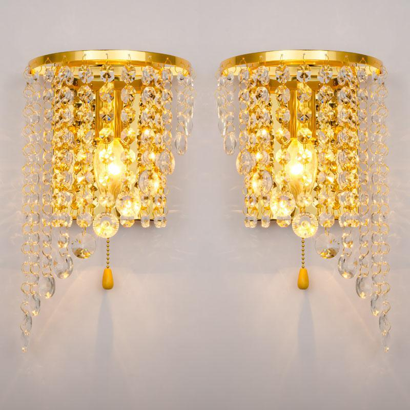 Hot selling Individual Wall Lamp Hotel Room Bedside Led Mirror Front Wall Light Up Down Wholesale of Crystal Lamps