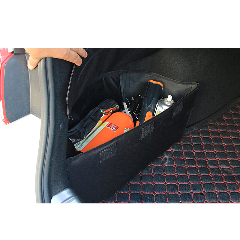 Lsrtw2017 Canvas Car Trunk Storage Box for Kia K5 Optima 2016 2017 2018 2019 2020 Mouldings Accessories cargo side plate image
