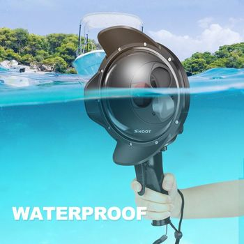 Diving Dome Port Waterproof Case Filter Switchable Dome for GoPro Hero 7 6 5 Black Trigger Housing for Go Pro 7 Accessory