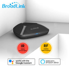 BroadLink RM Pro+WiFi Smart Home Hub, IR RF All in One Automation Learning Universal Remote Control Compatible for Apple Android 2019 broadlink rm03 rm pro rm3 pro automation smart home wifi ir rf 4g intelligent universal remote control for ios android