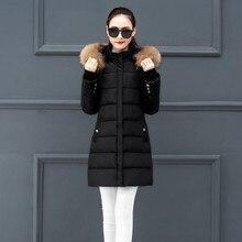 Abrigo chaqueta con capucha chaqueta de invierno para mujer Parkas 2019 nueva chaqueta de piel cuello prendas de abrigo para mujer talla grande 4xl invierno abrigos # J30