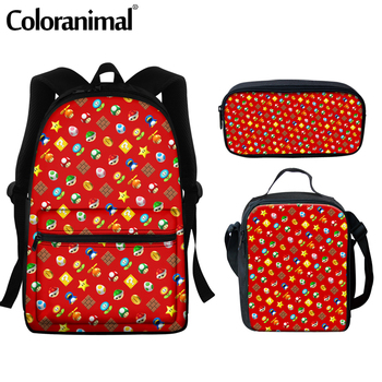 Coloranimal 2020 Japanese Anime Mario Design School Bags For Teenger Girls Boys Casual Backpacks Large Scool Bag Men Satchel 7