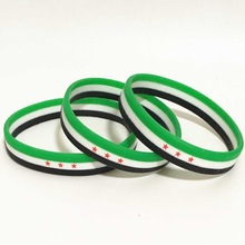 1pc Syria Flag Silicone Rubber Bracelets Sports Wrist Band Bangle for Women Men Special Gift for Lover