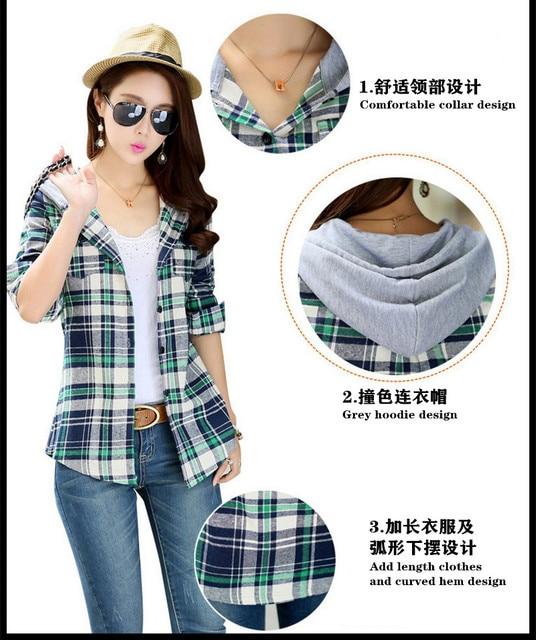 Plaid Hooded Shirt 5