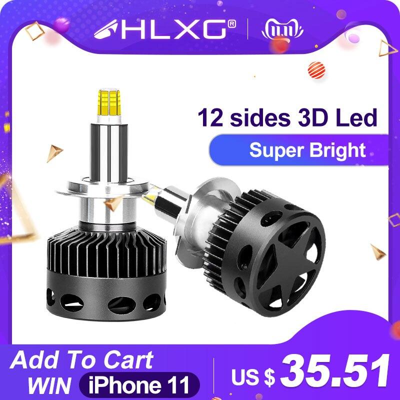 H1 H7 LED H8 H11 HB3 9005 HB4 9006 12sides 3D Led Headlights Mini High Power 18000LM Car Light Bulbs 360 Degree Diode Auto Lamp