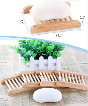 50pcs/lot Can engrave logo Wooden Natural  Soap Dishes Tray Holder Storage Soap Rack Plate Box Container Bathroom Soap Dis