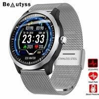 Beautyss N58 PPG smart watch com ecg electrocardiógrafo ECG display  pressão arterial holter ecg monitor de freqüência cardíaca smartwatch