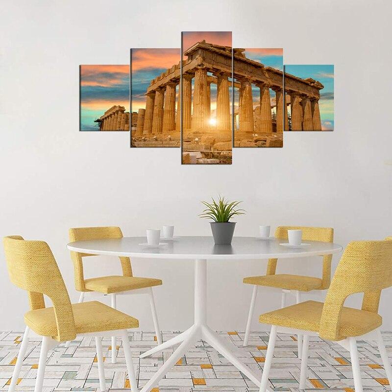 toile peinture temple grecque antique