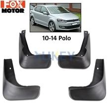 Для VW Polo Mk5 6R 2010- брызговики спереди и сзади брызговик крыло брызговиков 2011 2012 2013 комплект брызговиков