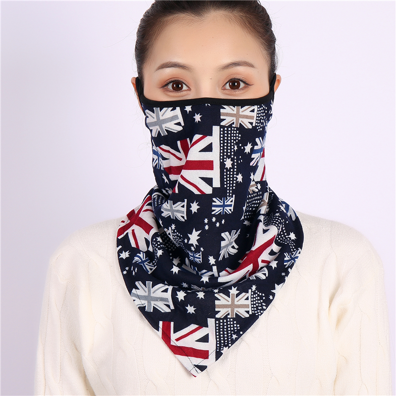 Women Face Scarves Winter Bandana Magic Neck Scarf Print Ring Coll Warm Mask Unisex Cycling Mouth Cover Breathable Mascarillas