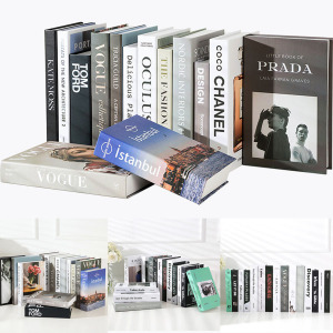 Fake Books Decoration For Home Decorative Books Modern Simulation Fashion Faux Book luxury Home Decor Club Hotel Model Room Soft