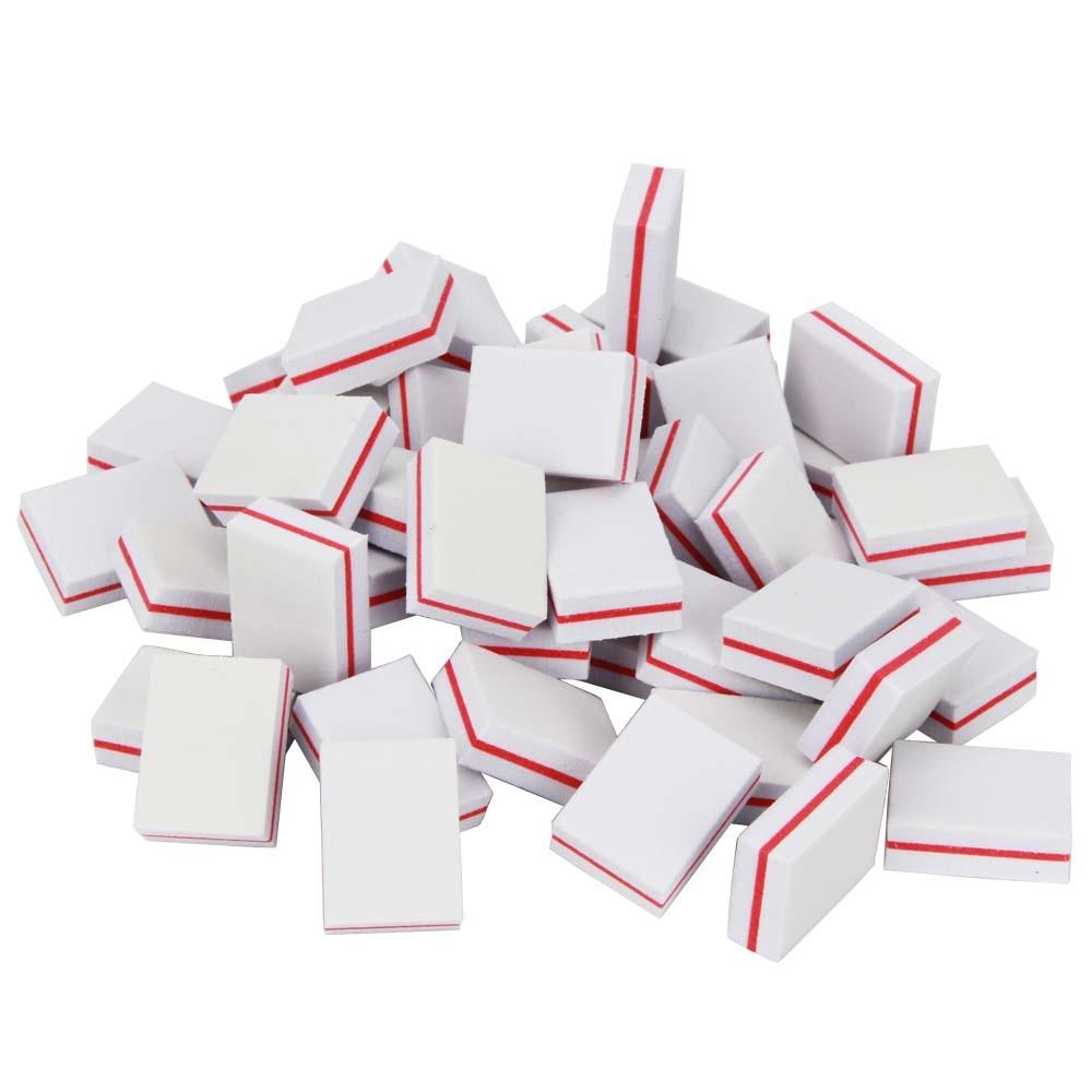 Branco 200 pçs esponja mini prego buffer