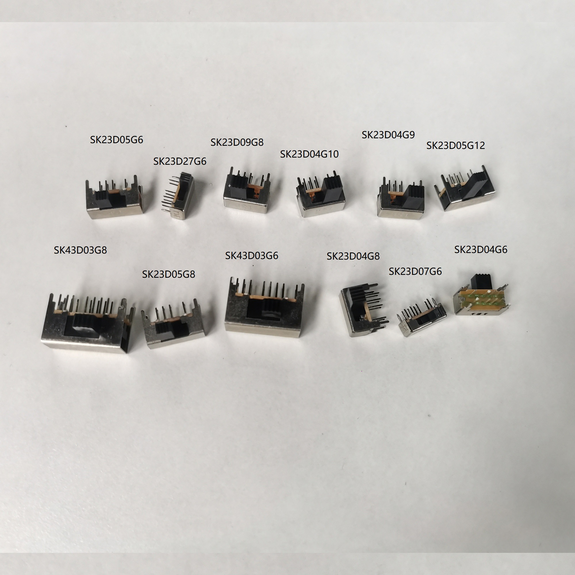 10PCS/Lot 8 Pin toggle switch Slide Switch Horizontal switch lever switch SK37D05G12 left one right three Ex-factor price
