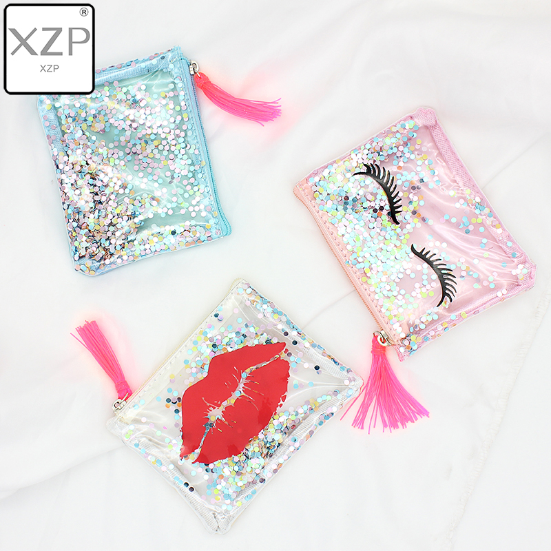 XZP Transparent Coin Purse Women Small Wallet Female Change Purses Mini Children's Pocket Wallets Key Card Holder PVC Hand Bags