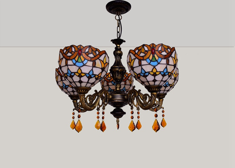 Estilo europeu retro criativo tiffany colorido vidro
