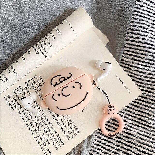 Bonito dos desenhos animados peanut comics snoopy charlie brown fones de ouvido casos para apple airpods 1 2 3 pro silicone proteção do fone de ouvido capa