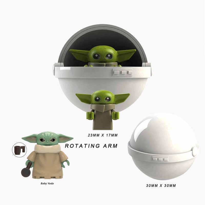 SINGLE Star Wars Finn Lando Palpatine เด็ก Yoda Dark Rey Darth Vader Empire ช่างหุ่นยนต์อาคารบล็อกอิฐของเล่น