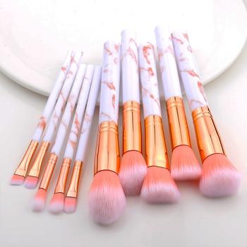 FLD 5pcs Marbling Makeup Brushes Set Cosmetic Tools Powder Eye Shadow Foundation Blush Blending Make Up Brush Maquiagem Beauty 1