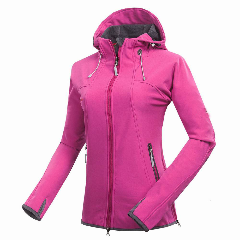 Free Shipping Band Women Softshell Jacket Fleece Outdoor Sport Wear Hiking Camping Riding Windproof Waterproof Female Coat