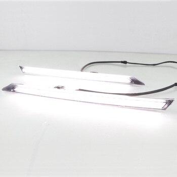 For Toyota RAV4 RAV 4 2019 2020 Yellow Turn Signal Function 12V Car DRL Lamp LED Daytime Running Light Daylight Waterproof