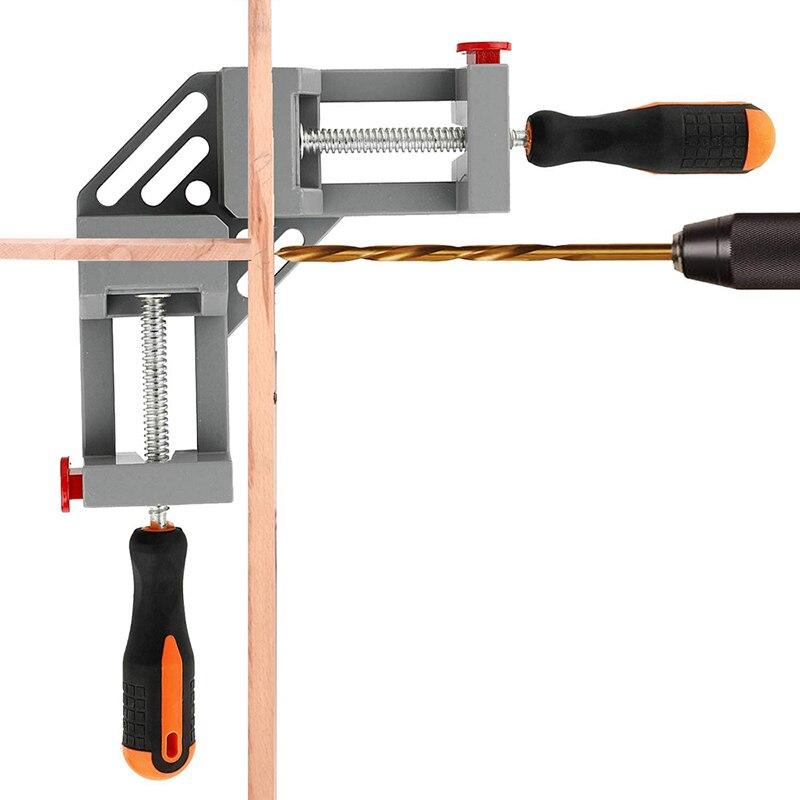 Çok fonksiyonlu 90 derece sağ açı klip klasörü resim çerçevesi köşe kelepçe hızlı sabit kelepçeleri köşe tutucu ağaç İşleme aleti