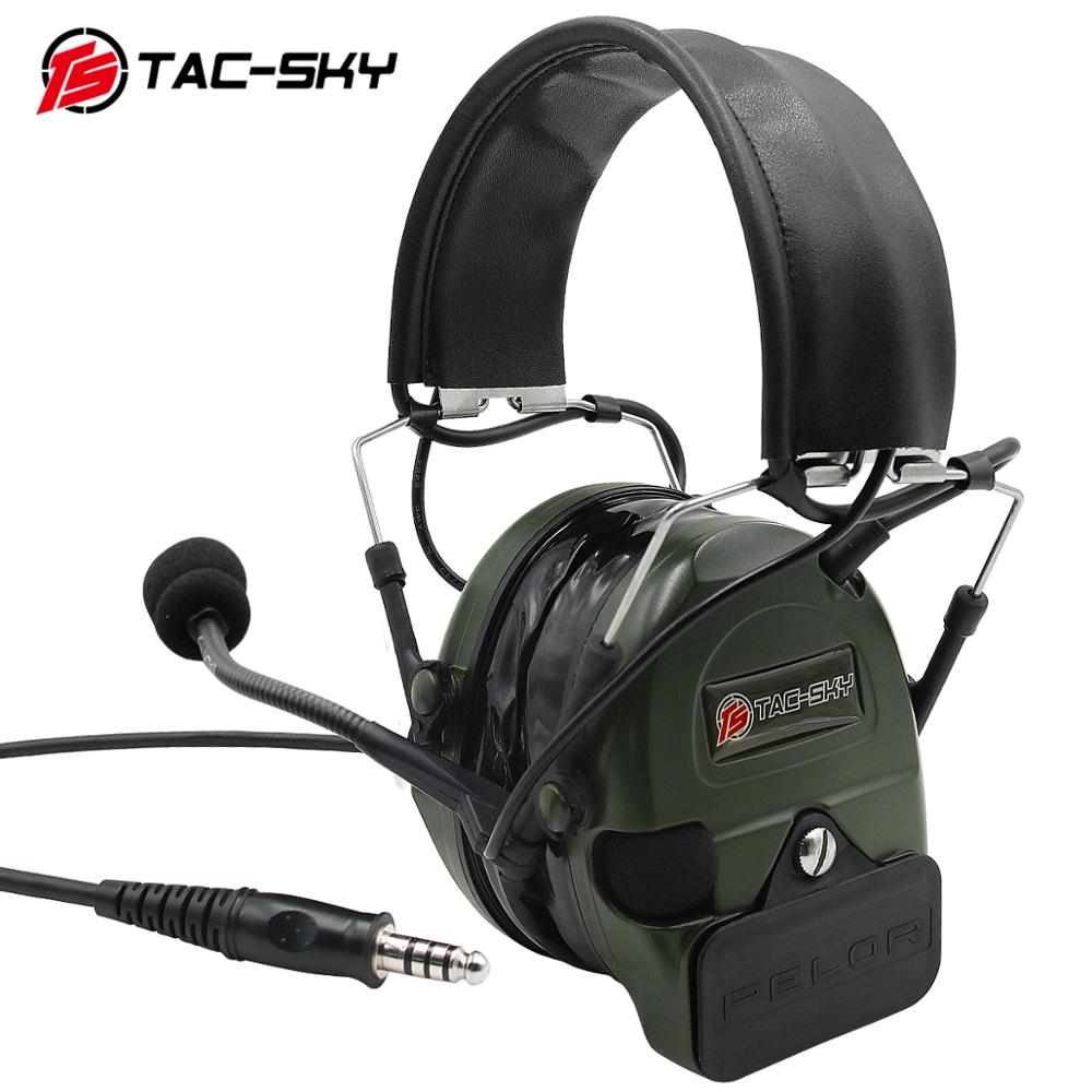 TAC-SKY COMTAC I Silicone Earmuffs Noise Reduction Pickup Military Tactical Headset Comatc I FG