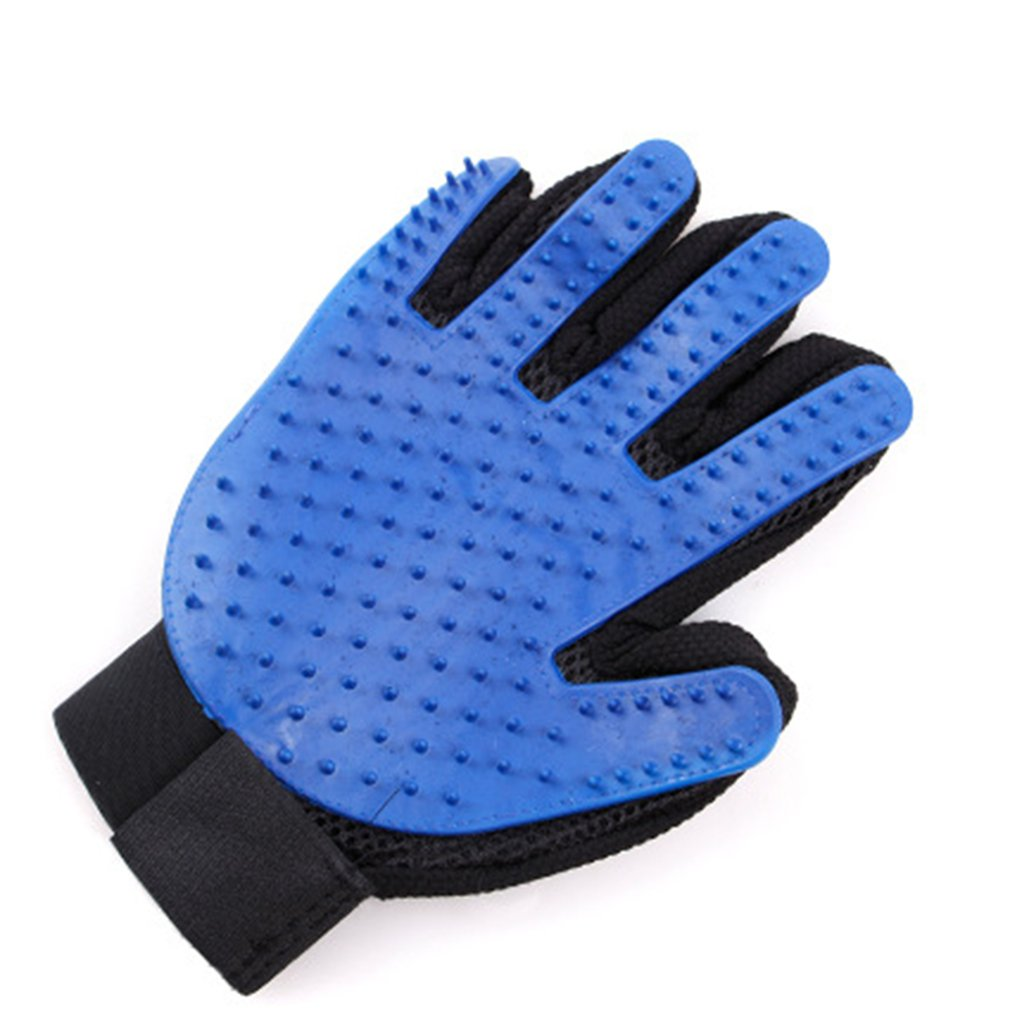 Pet Grooming Glove Hair Removal Gloves Hair Glove Deshedding Magic Glove Deshedding Shampoo Grooming Glove Blue